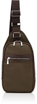 Barneys New York MEN'S LARGE LEATHER MESSENGER BAG