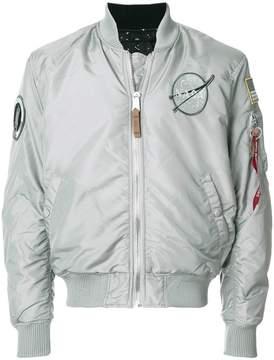 Alpha Industries space badge bomber jacket