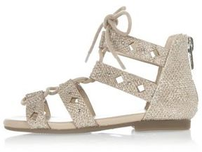 River Island Mini girls gold lace sandals