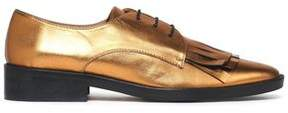 Castaner Fringed Metallic Patent-Leather Brogues