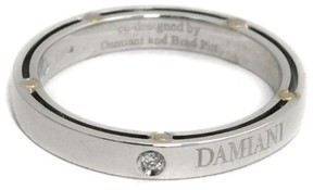 Damiani 18K White Gold & Diamond Ring Size 7.5