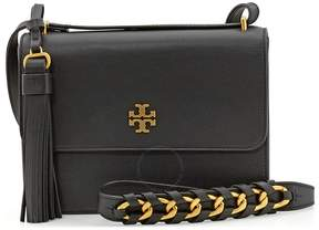 Tory Burch Brooke Leather Shoulder Bag- Black - ONE COLOR - STYLE