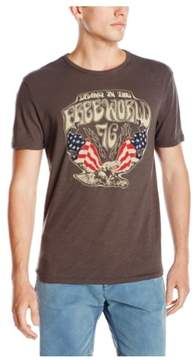 Lucky Brand Mens Free World 76 Graphic T-Shirt Brown M