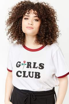 Forever 21 Plus Size Girls Club Graphic Ringer Tee