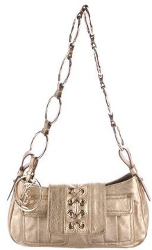 Saint Laurent Metallic Shoulder Bag - GOLD - STYLE