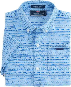 Vineyard Vines Boys Short-Sleeve Fish Hook Wave Harbor Shirt