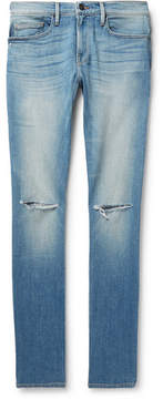 Frame L'homme Distressed Stretch-Denim Jeans