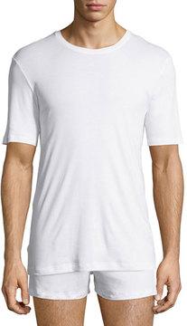 Hanro Sea Island Cotton Crewneck T-Shirt, White