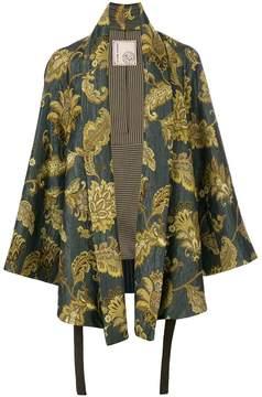 Antonio Marras leaves print kimono jacket