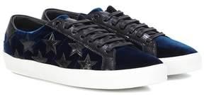 Saint Laurent SL/06 Court Classic velvet sneakers
