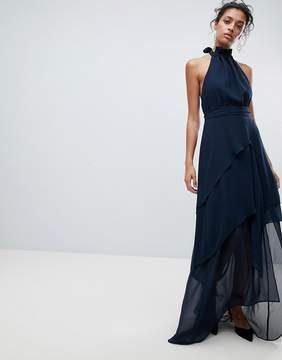 C/Meo Collective Collective Halter Frill Maxi Dress