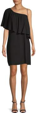 Ella Moss Women's Asymmetrical Neckline Shift Dress