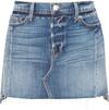 FRAME - Nouveau Le Mini Mix Distressed Denim Skirt - Mid denim
