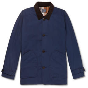 J.Crew Barn Corduroy-Trimmed Cotton Field Jacket