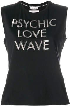 Each X Other embellished slogan vest top