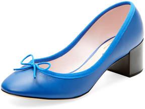 Repetto Women's Farah Leather Block Heel Pump