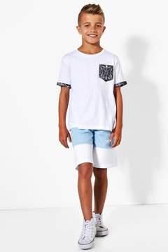 boohoo Boys Contrast Panel Fleece Shorts