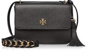 Tory Burch Brooke Black Leather Shoulder Bag - ONE COLOR - STYLE