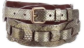 Marc Jacobs Python Metallic Belt