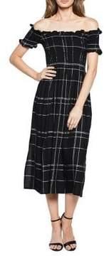 Bardot Cindy Off-The-Shoulder Midi Dress