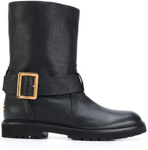 Bally textured buckle boots