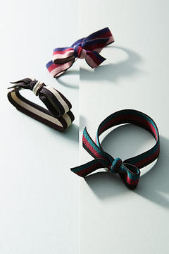 Anthropologie Ribbons & Bows Pony Holder Set