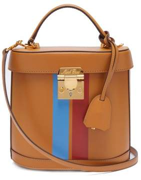 Mark Cross Benchley Smooth Leather Shoulder Bag - Womens - Tan Multi