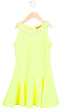 Nicole Miller Girls' Embellished Textured Dress w/ Tags