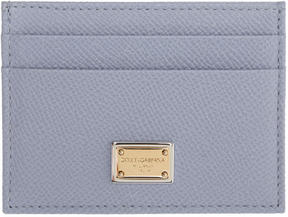 Dolce & Gabbana Blue Leather Card Holder - BLUE - STYLE