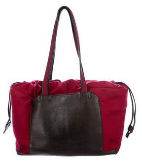 Loro Piana Cashmere Leather-Trimmed Tote