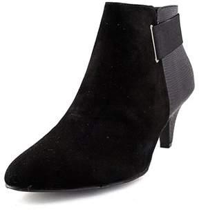 Alfani Womens Vandela Leather Closed Toe Ankle Platform Boots.