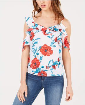 Bar III Asymmetrical Cold-Shoulder Top, Created for Macy's