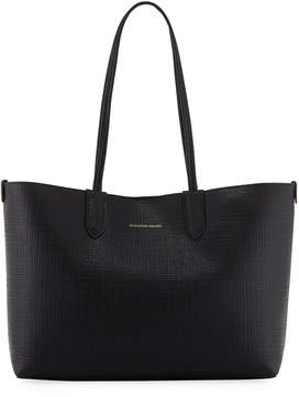 Alexander McQueen Lino Small Embossed Leather Tote Bag