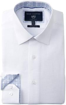 Report Collection Textured Solid Trim Fit Dress Shirt