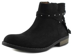 Jessica Simpson Hidalgo Youth Pointed Toe Suede Black Bootie.