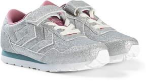 Hummel Silver Glitter Reflex Junior Trainers