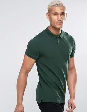 Jack Wills Aldgrove Pique Polo Shirt In Green