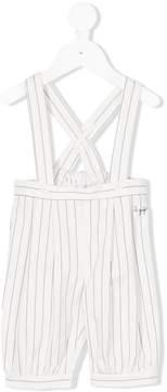 Il Gufo crisscross back striped dungarees