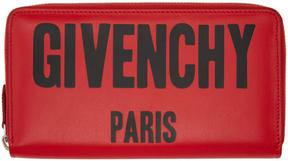 Givenchy Red Logo Continental Wallet