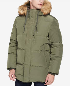 Andrew Marc Men's Glasnevin Quilted Parka with Faux-Fur Lining and Trim