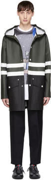 Marni Green and Black Stutterheim Edition Colorblock Raincoat