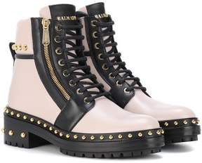 Balmain Exclusive to mytheresa.com – embellished leather ankle boots