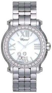Chopard Happy Sport White Dial Stainless Steel Ladies Watch