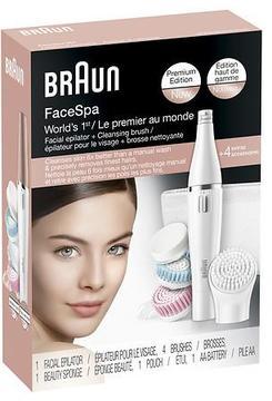 Braun FaceSpa Facial Epilator + Cleansing Brush, 851