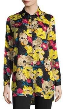 Etro Silk Floral Jacquard Button-Down Shirt