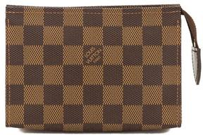 Louis Vuitton Damier Ebene Canvas Toiletry 15 Pouch - BROWN - STYLE
