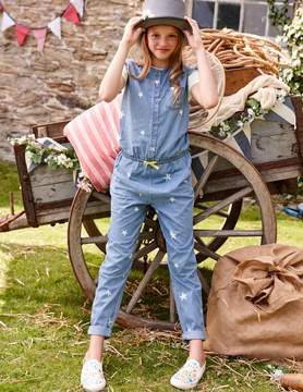 Boden Chambray Stars Jumpsuit