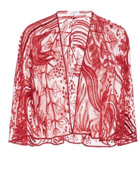 Murad Zuhair Fresque Embellishe Silk-Organza Cape