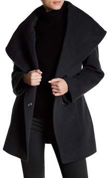 Cinzia Rocca Wool Blend Hooded Coat