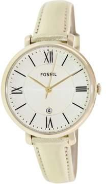 Fossil Women's Jacqueline ES3437 Gold Leather Quartz Watch